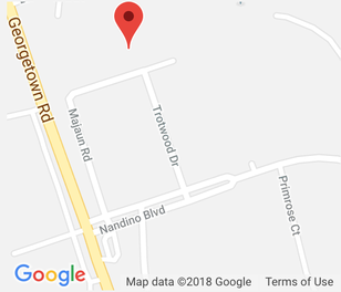 Map of Southland Printing's location at 1079 Majaun Rd, Lexington, KY.